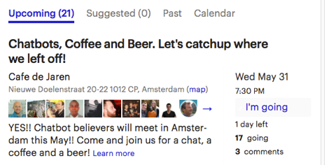 Chatbot Cafe Amsterdam