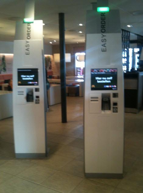 Mc Donalds Kiosk ATM Counter Machine