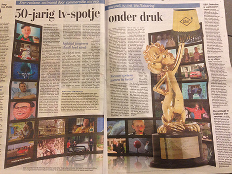Spot reclame onder druk, Telegraaf