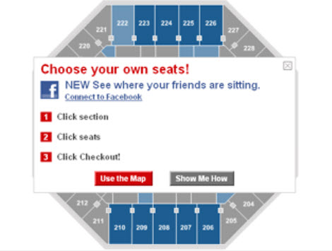 Ticketmaster Fracebook Friends